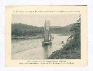 Sailing Vessel,View from Kopmannebro, station on the Bergslagsrailway, Dalsla...