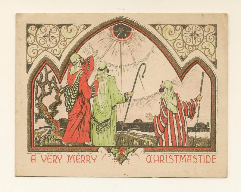 CHRISTMAS GREETINGS CARD 4X10 FT A VERY MERRY CHRISTMASTIDE