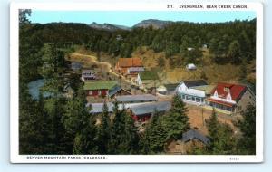 Postcard CO Evergreen Bear Creek Canon Denver Mountain Parks Summer Colony L06