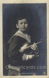 Franz von Vecsey Music Unused light corner wear, oxidation on card from age