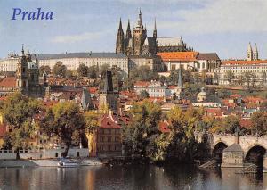 Czech R. Praha Prague, Prazsky Hrad Prager Burg Castle River Bridge