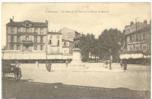 Hotel & Statue de Bancel, Valence, France, 1900-1910s