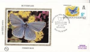 Common Blue Butterfly Benham Stamp First Day Cover FDC