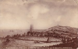 Medieval Cromer Norfolk 1779 Act Real Photo Antique Postcard