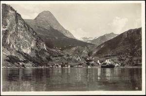 norway norge GEIRANGER MEROK, Panorama Steamer 20s RPPC
