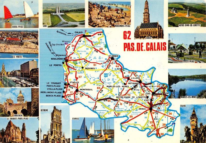 Postcard map pas de calais multiview france 87 hippostcard postcard map pas de calais multiview france 87 gumiabroncs Image collections