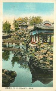 Camera Craft Teich China Imperial City Peking Scene 1920s Postcard 360