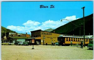 SILVERTON, Colorado  CO   Blair Street NARROW GAUGE RAILROAD  c1950s Postcard