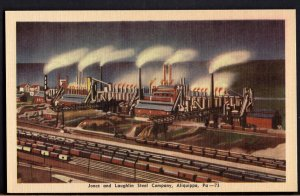 41820) Pennsylvania ALIQUIPPA Jones and Laughlin Steel Company - LINEN