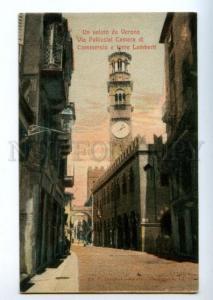 155993 ITALY VERONA Via Pelicciai Vintage postcard