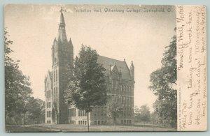 Springfield Ohio~Wittenberg College~Recitation Hall & Grounds~c1905 Postcard
