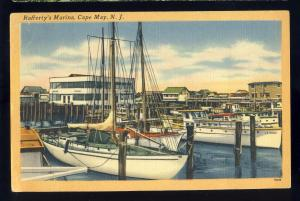 Cape May, New Jersey/NJ Postcard, Rafferty's Marina, 1954!