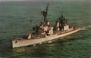 Postcard USS Arnold J Isbell DD-869 Gering Class Destroyer