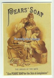 ad0341 - Pears Soap - Order Of The Bath - Modern Advert Postcard