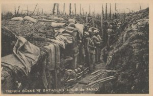 PARIS, France, 1914-18 ; Trench Scene at BATAGLAN'Four de PARIS!