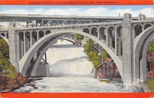 Spokane Washington~Historic Spokane Falls In Downtown~1949 PC