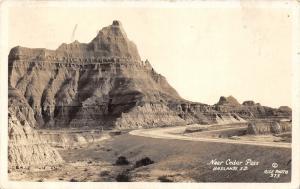 Badlands South Dakota~Scene near Cedar Pass~1938 Real Photo Postcard