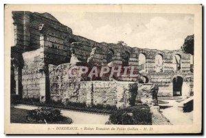 Old Postcard Bordeaux Roman ruins of the Palais Gallien