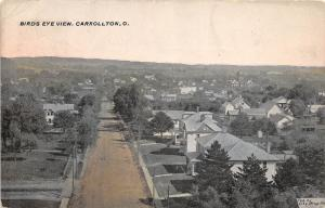 B76/ Carrollton Ohio Postcard 1910 Birdseye View Carroll County Homes