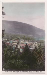 RP; Hand-colored, Business Section from Gyro Park, Nelson, British Columbia, ...