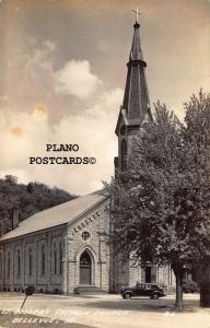 BELLEVUE, IOWA ST. JOSEPH'S CHURCH RPPC REAL PHOTO POSTCARD