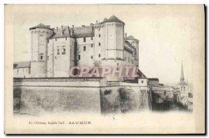 Old Postcard Chateau Saumur South Facade