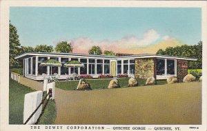 Vermont Quechee Gorge Dewey Corporation Restaurant and Sales Room Curteich