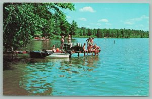 Chetek Wisconsin~Luther Park Bible Camp~A Warm Day~What Will it Be?~c1950 PC