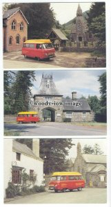 su3290 - Royal Mail Post Buses in Wales - 5 postcards