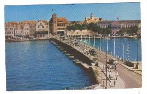 Pontoon Bridge with view of punda section of Williamstad, Curacao, Netherla...