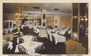 CHICAGO, Illinois, 30-40s; Harding's Colonial Room