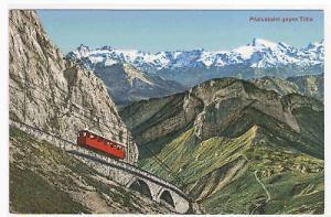 Incline Railroad Pilatus Bahn Titlis Switzerland postcard