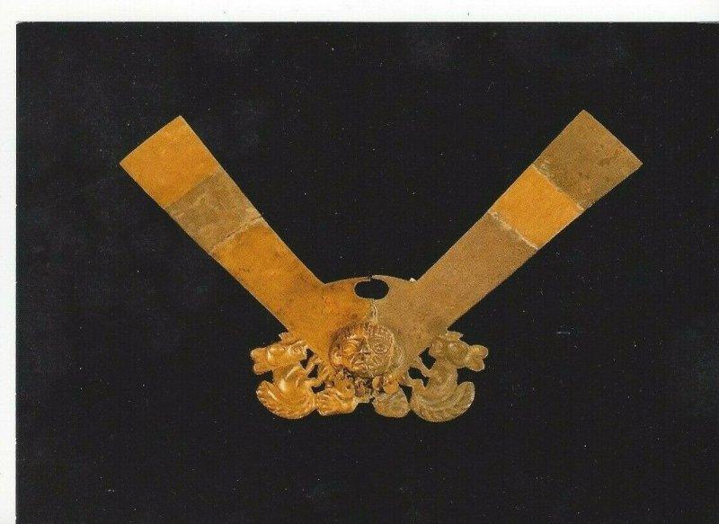 Nose Ornament of Gold & Silver Gold Museum Museo Oro Del Peru Lima Park Postcard