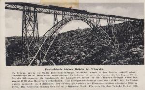 Mungsten Bridge Antique German Postcard