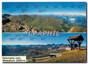 Modern Postcard Panorama vom Weisshorn