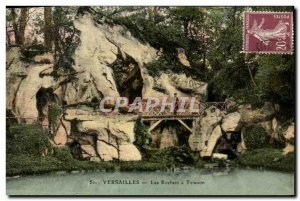 Old Postcard The Rocks at Trianon Versailles