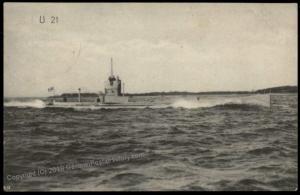 Germany WWI Submarine UBoot U21 MSP24 SMS Oldenburg Feldpost Used Cover 63790