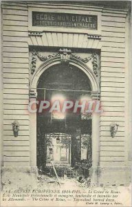 Postcard Old Murder Reims War Europeenne 1914 1915 Municipal School Vocationa...