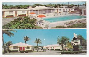 JUNO, Florida, 1940-1960's; Blue Egret Motel, Swimming Pool, U.S. Highway #1