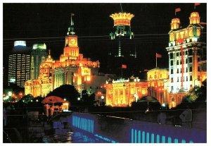 The Bund Night Scene of Shanghai Postcard