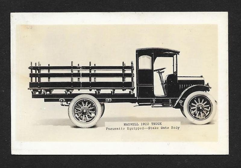 VICTORIAN TRADE CARD Lester Bros Cars & 1920 Maxwell Trucks