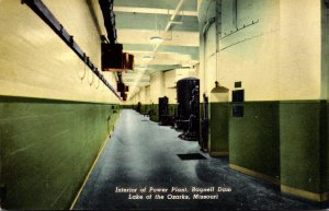 Missouri Lake Of The Ozarks Bagnell Dam Interior Of Power Plant Curteich