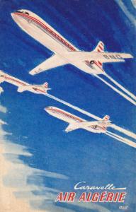 SE 210 Caravelle Airplane Air Algerie Algeria original 1960s poster postcard