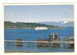 Ferry The Queen Of Cowichan, Departure Bay, Nanaimo, B.C., Canada, 1970-1980s