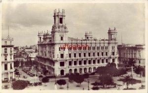 RPPC HAVANA, CUBA ASTURIANO CENTER vintage autos 1930's