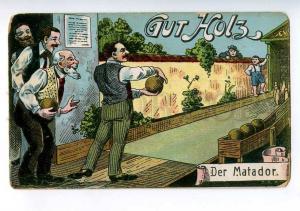 213932 GERMANY SPORT bowling Matador Vintage postcard