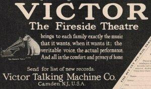 1907 Original Print Ad Victor Dog Talking Machine 2P1-6 e et