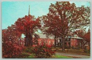 Dale Indiana~St Joseph Church & Parsonage~Autumn Leaves~c1950 s Postcard