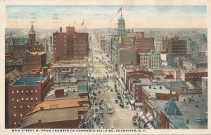Rochester NY New York Main street looking West from Chamber of Commerce pm 1917