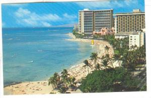 View Is Of The Beautiful Hotels Lining The Beach & Kalakaua Avenue, Waikiki B...